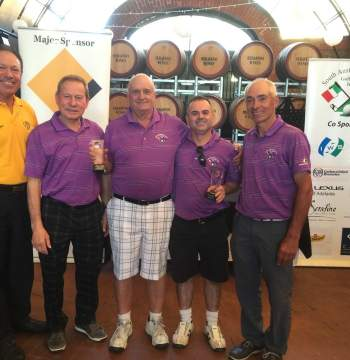 Willunga Golf Course - Canadian Foursomes - Winners and Hole in one winner Peter Leonello